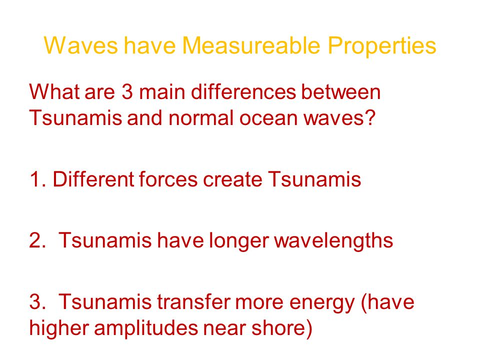 Waves have Measureable Properties