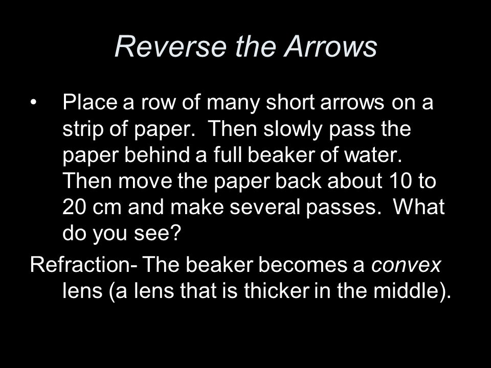 Reverse the Arrows