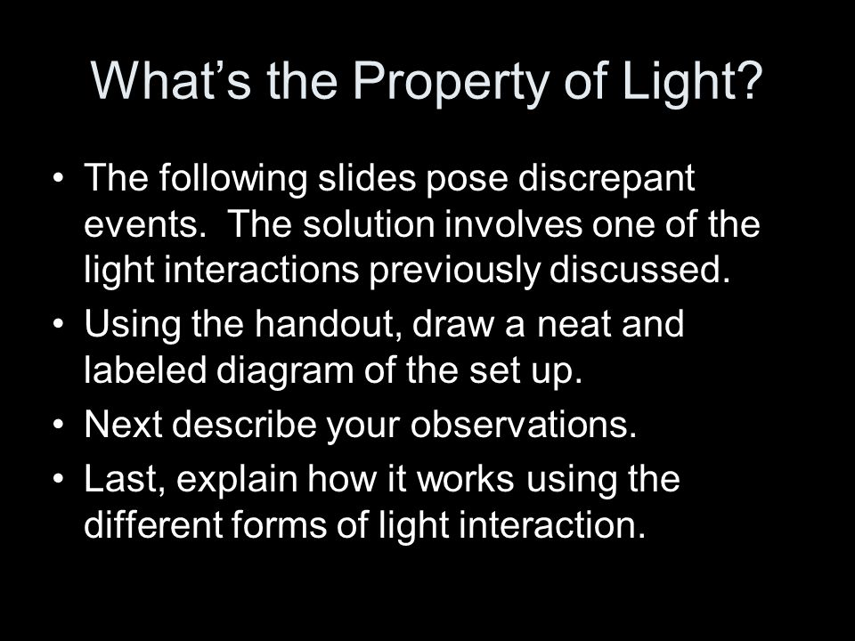 What's the Property of Light