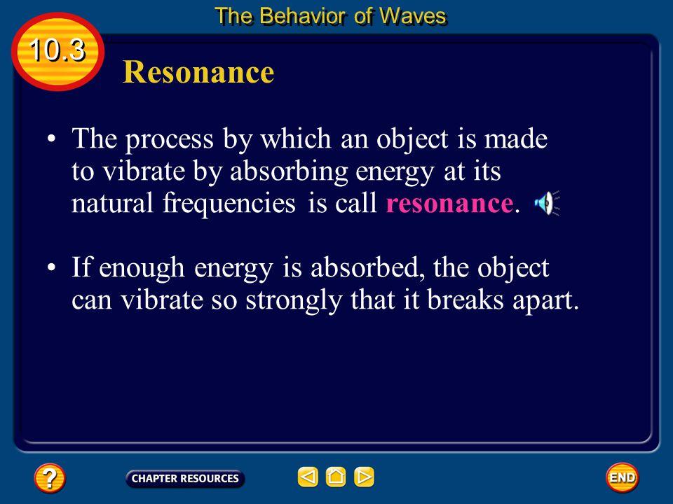 The Behavior of Waves 10.3. Resonance.