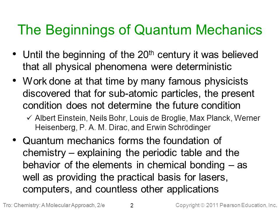 The Beginnings of Quantum Mechanics