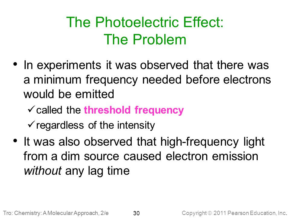 The Photoelectric Effect: The Problem