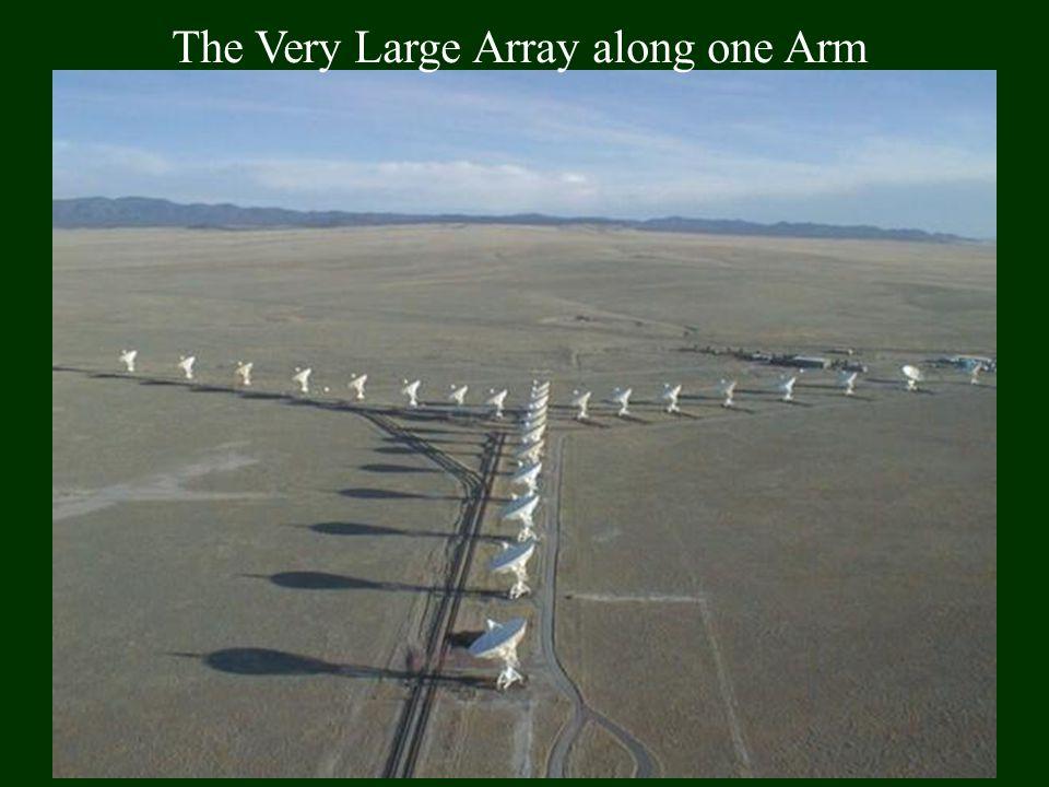 The Very Large Array along one Arm