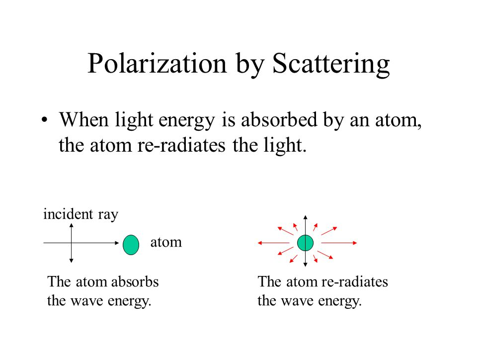 Polarization by Scattering