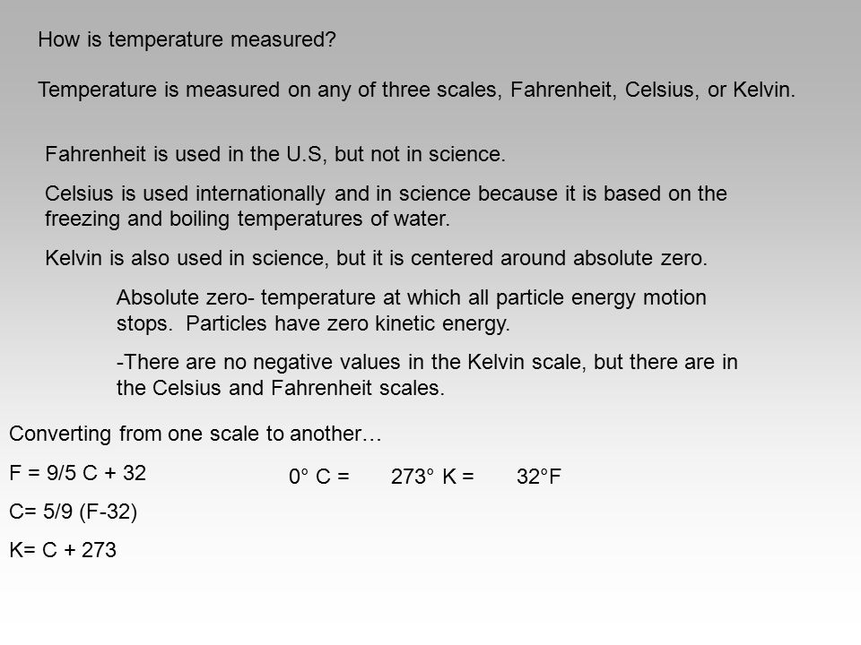 How is temperature measured