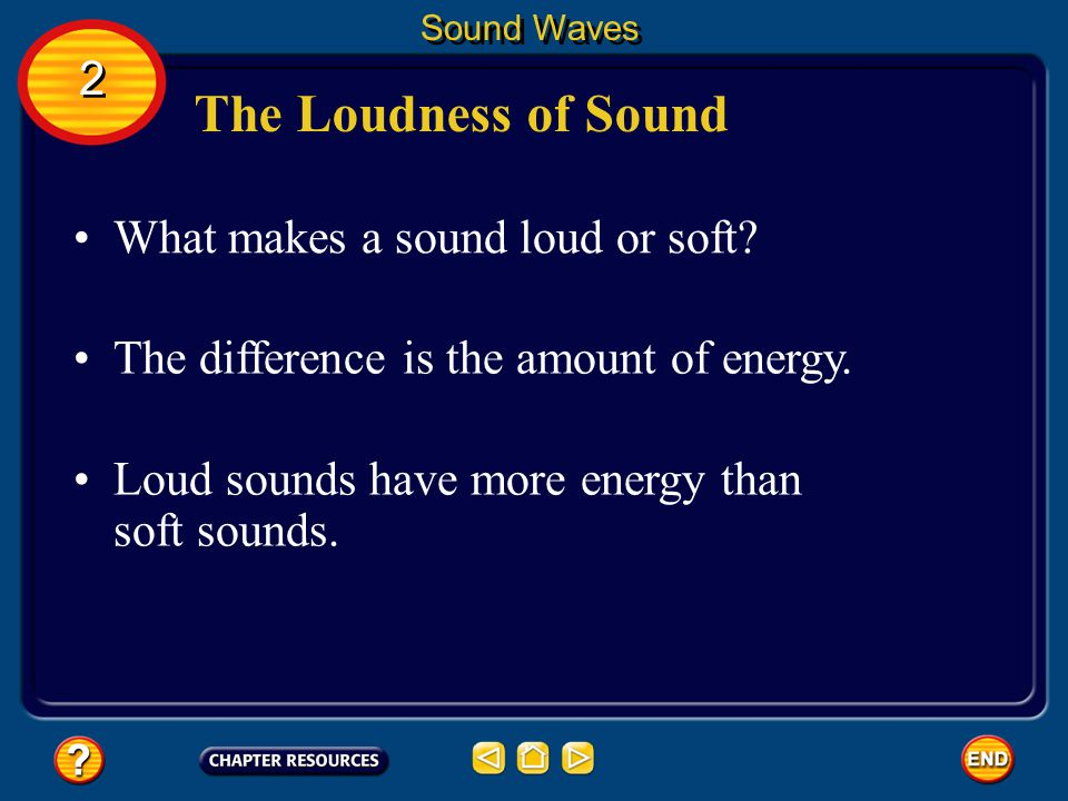 The Loudness of Sound 2 What makes a sound loud or soft