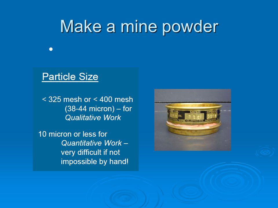 Make a mine powder