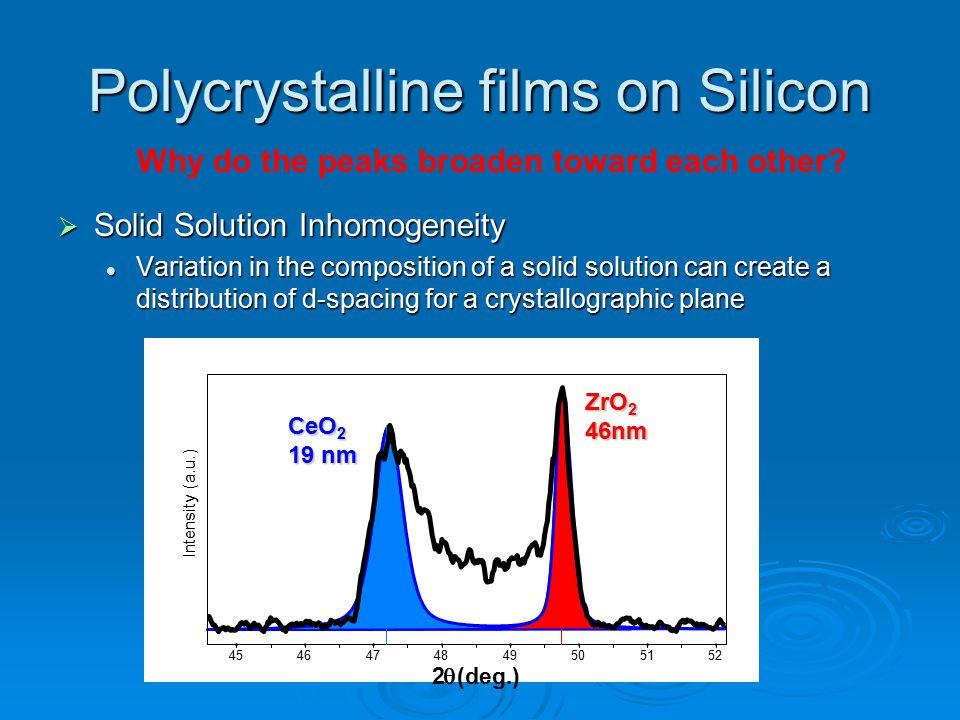 Polycrystalline films on Silicon