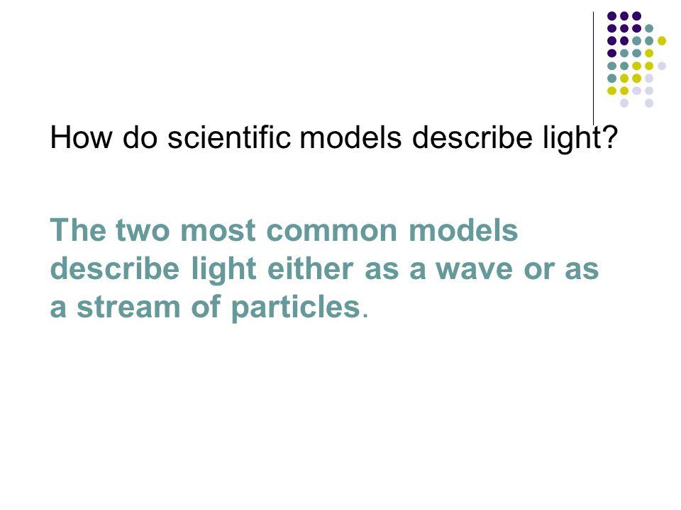 How do scientific models describe light