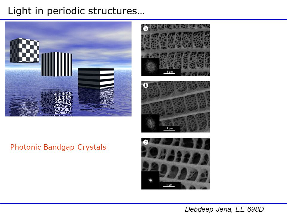 Light in periodic structures…