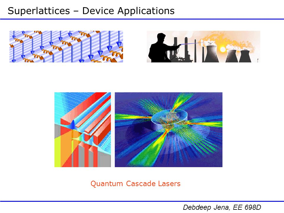 Superlattices – Device Applications
