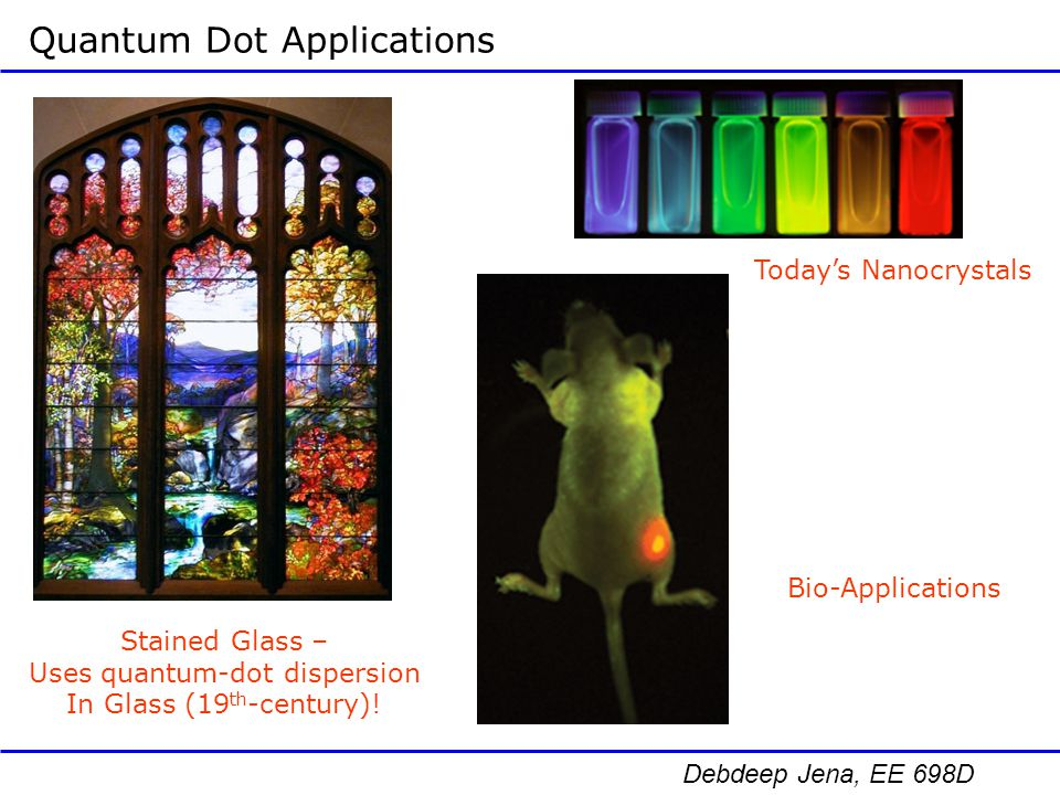 Uses quantum-dot dispersion
