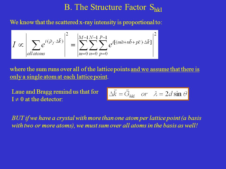 B. The Structure Factor Shkl