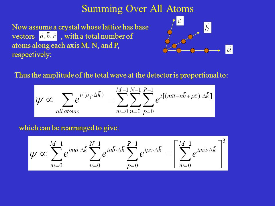 Summing Over All Atoms