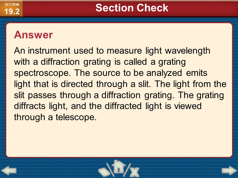 SECTION19.2 Section Check. Answer.