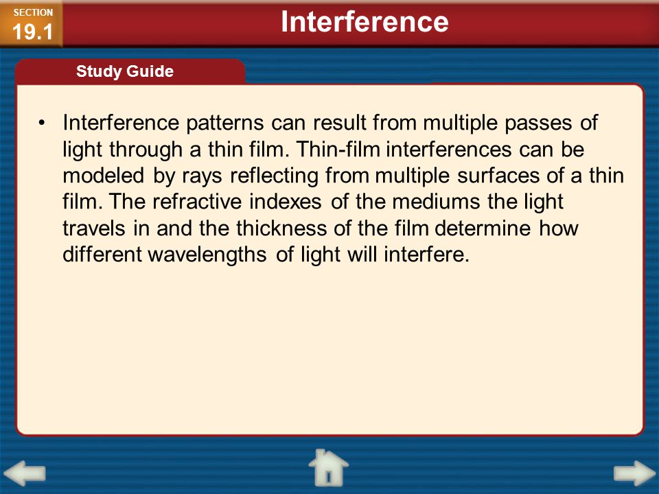 SECTION19.1 Interference. Study Guide.