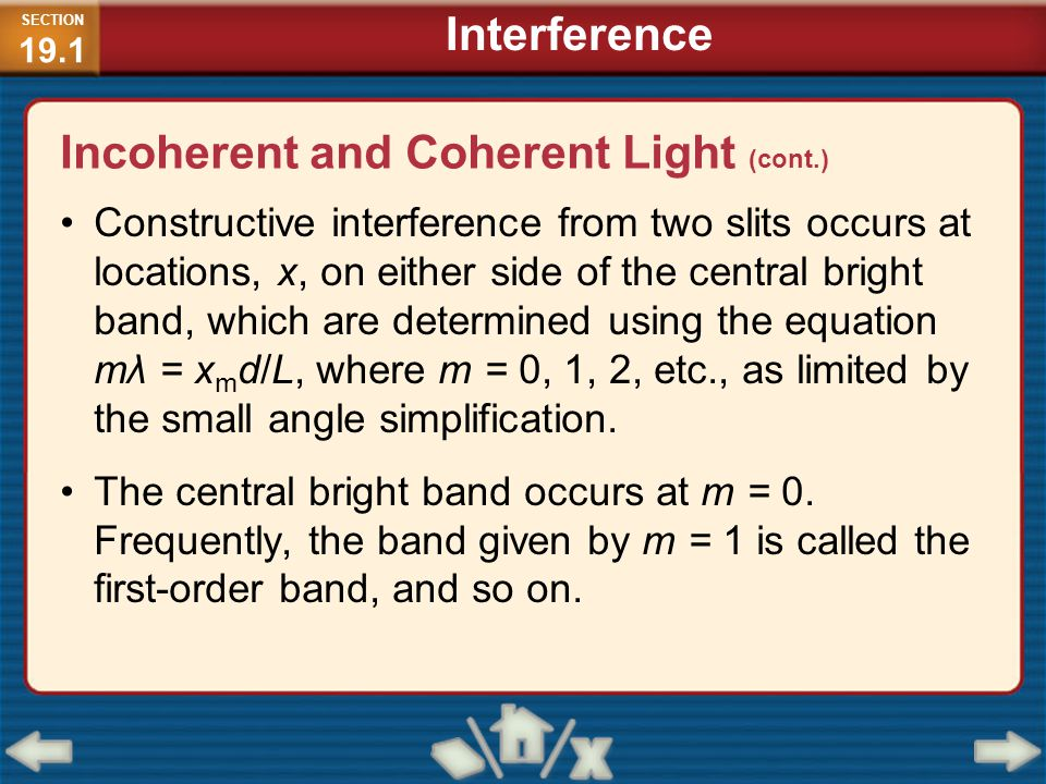 Incoherent and Coherent Light (cont.)