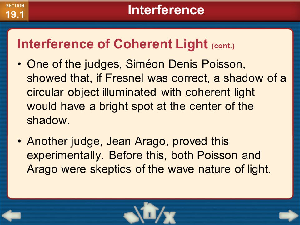 Interference of Coherent Light (cont.)