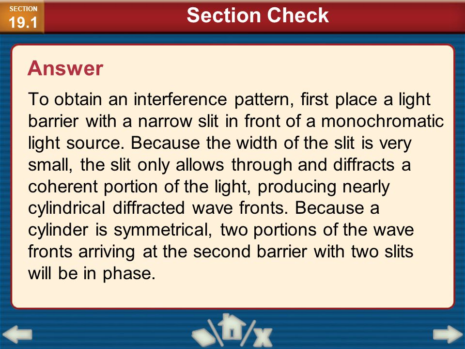 SECTION19.1 Section Check. Answer.