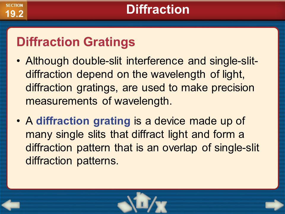 Diffraction Diffraction Gratings