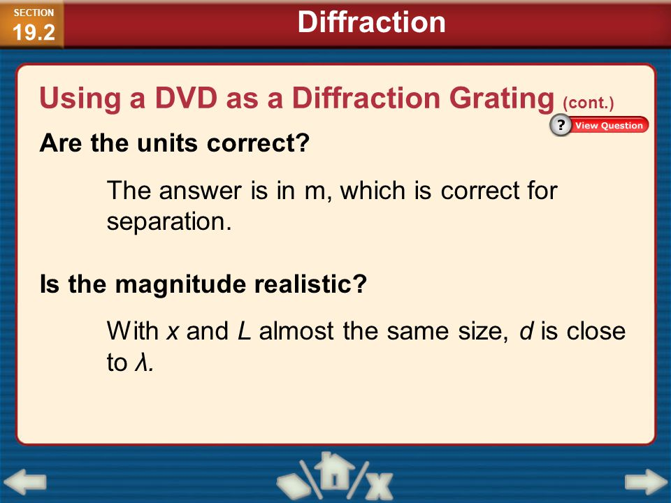 Using a DVD as a Diffraction Grating (cont.)