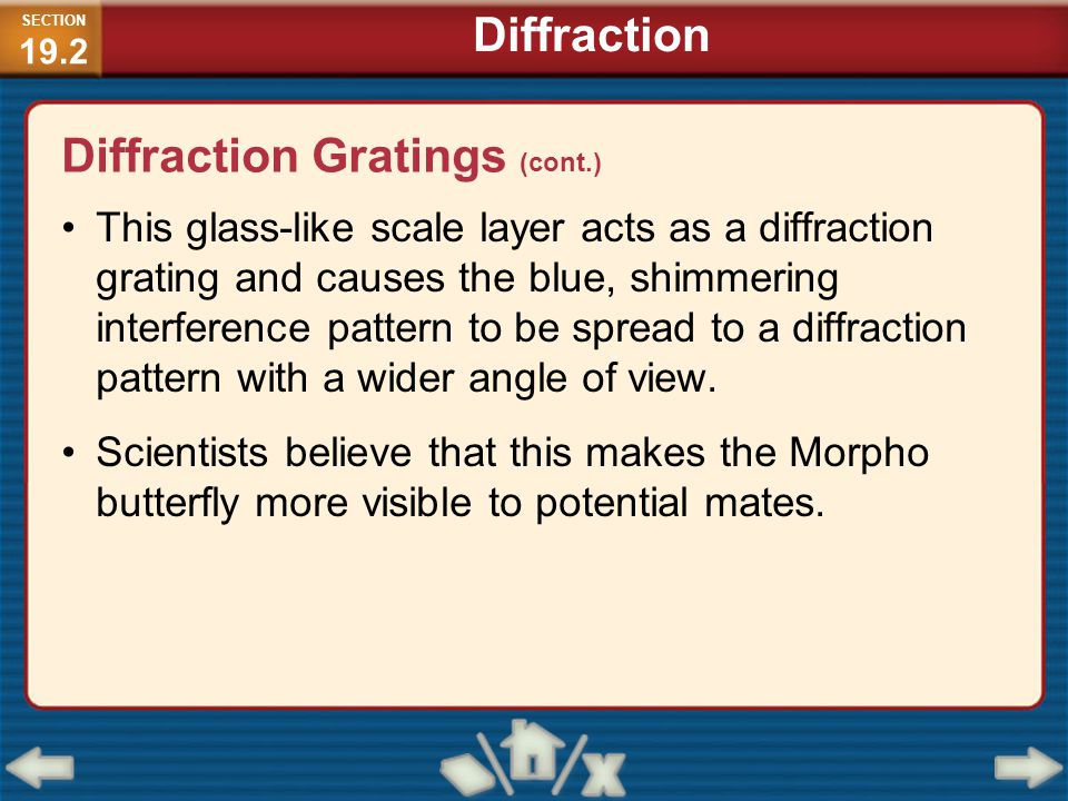 Diffraction Gratings (cont.)