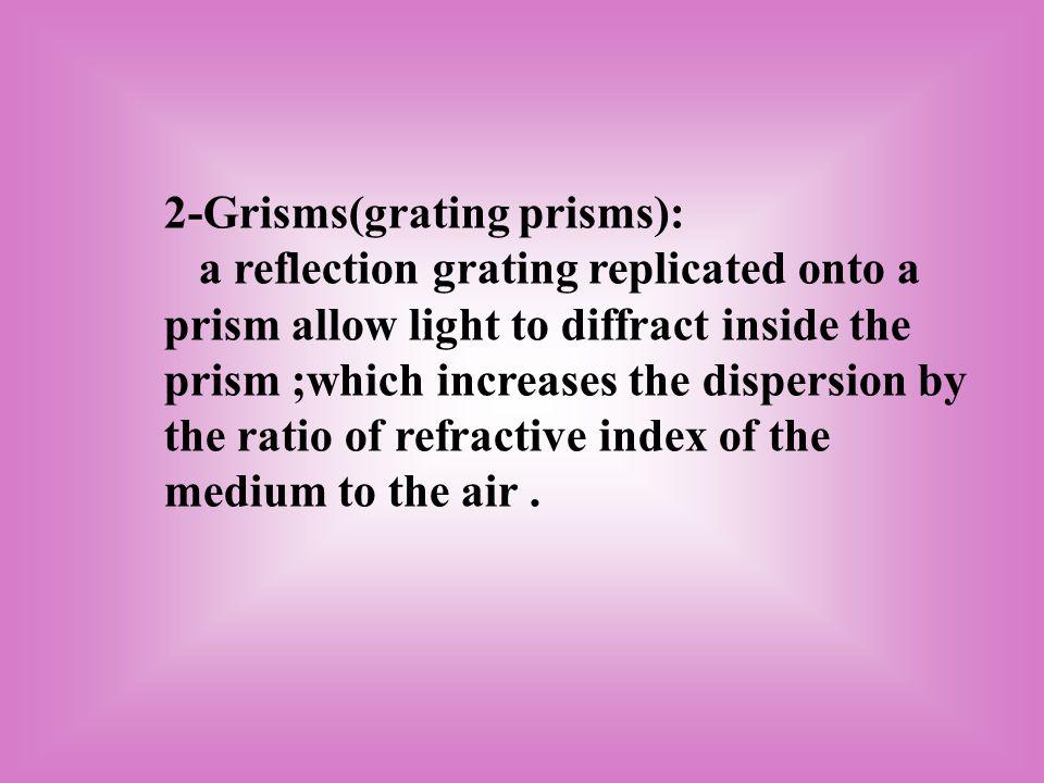 2-Grisms(grating prisms):