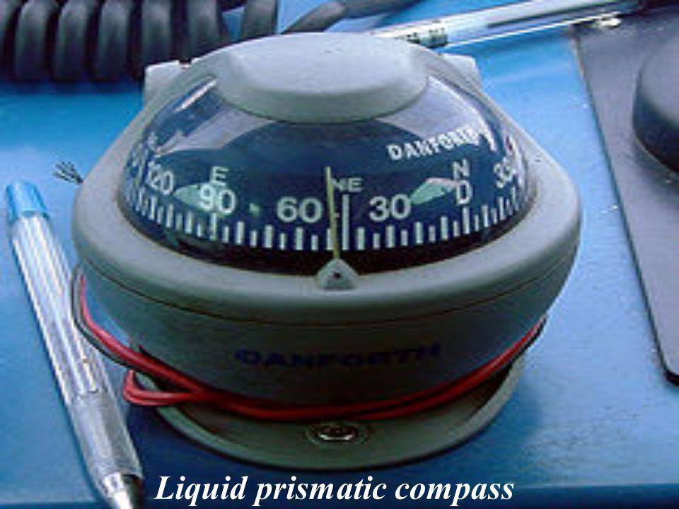Liquid prismatic compass