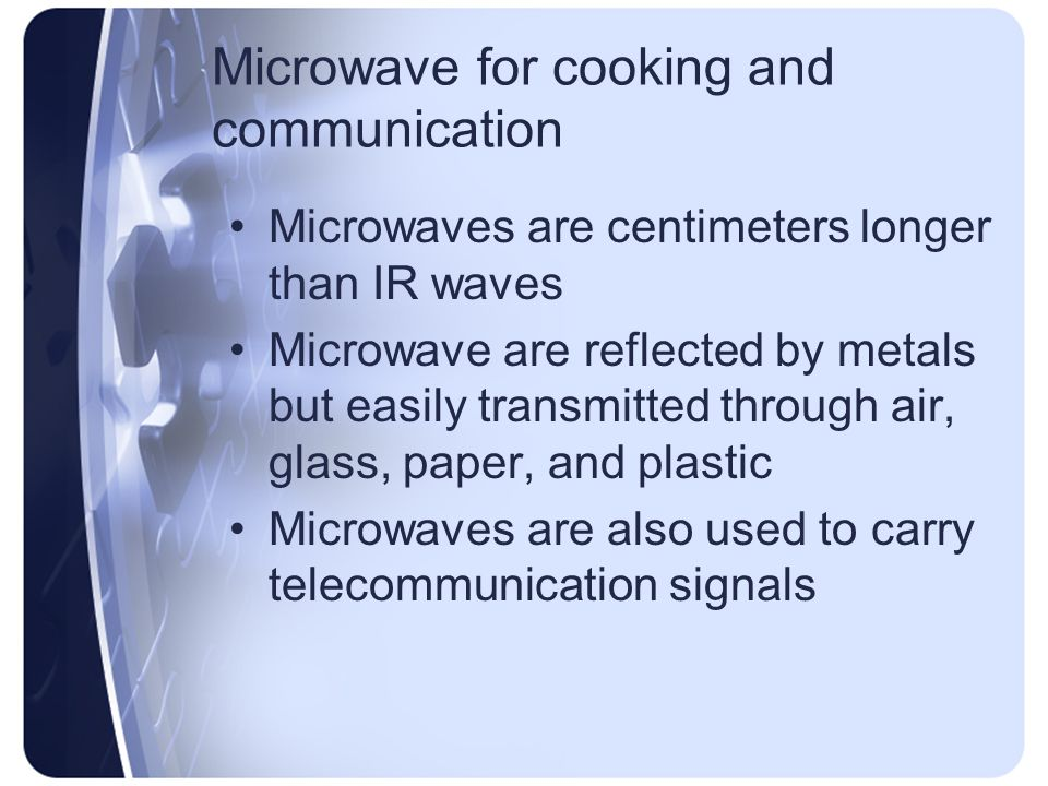 Microwave for cooking and communication