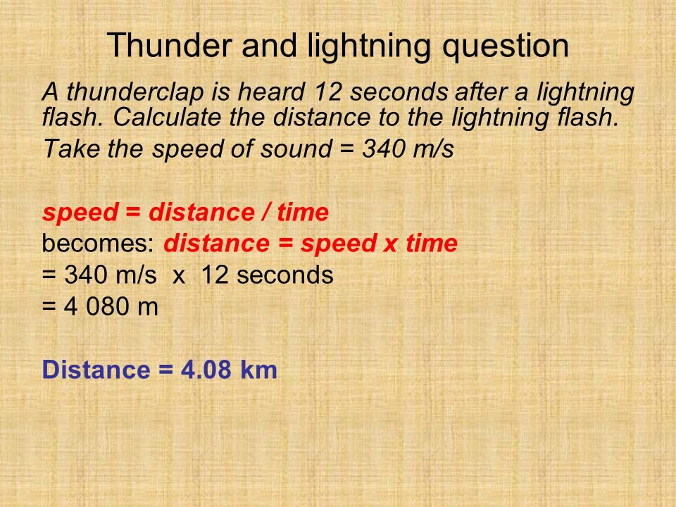 Thunder and lightning question