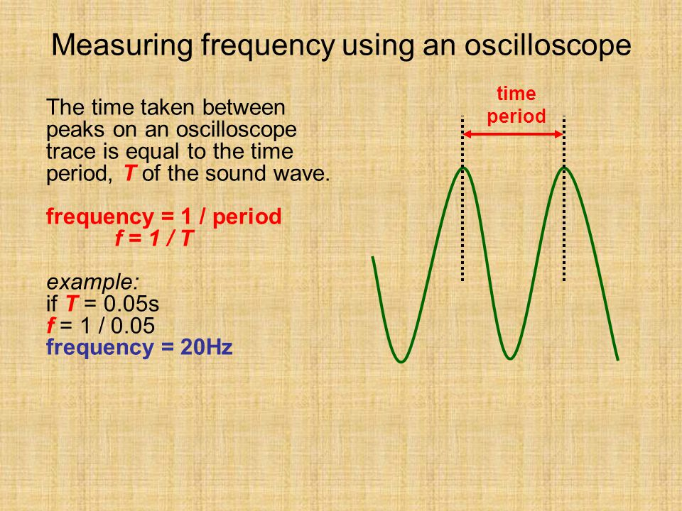 Measuring frequency using an oscilloscope
