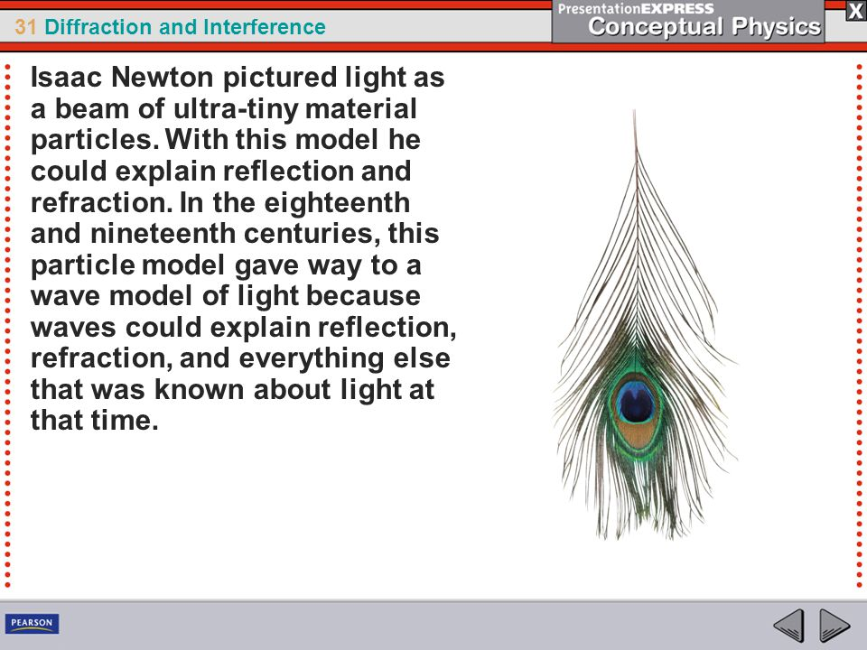 Isaac Newton pictured light as a beam of ultra-tiny material particles
