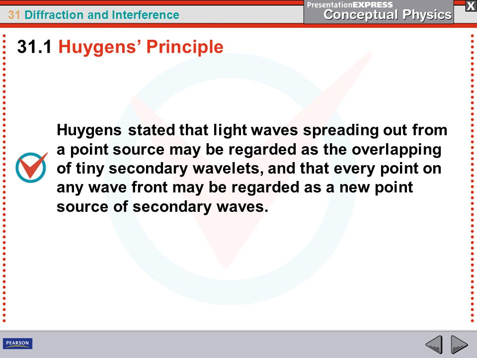 31.1 Huygens' Principle