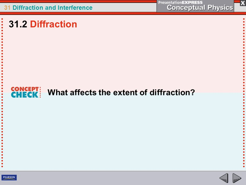 31.2 Diffraction What affects the extent of diffraction