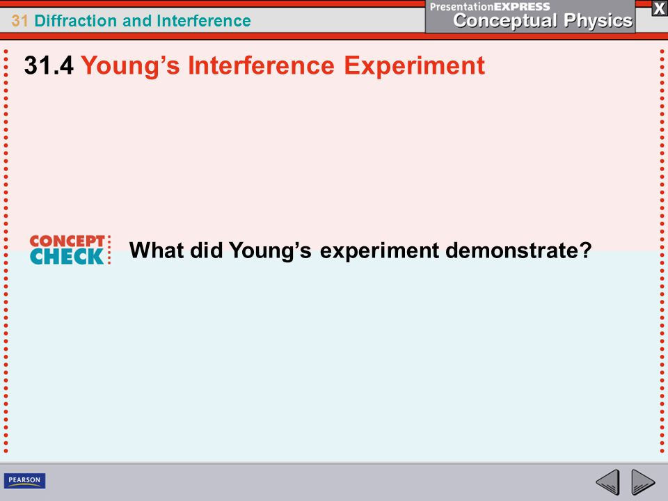 31.4 Young's Interference Experiment