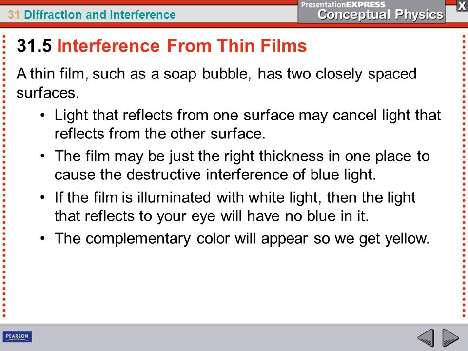 31.5 Interference From Thin Films