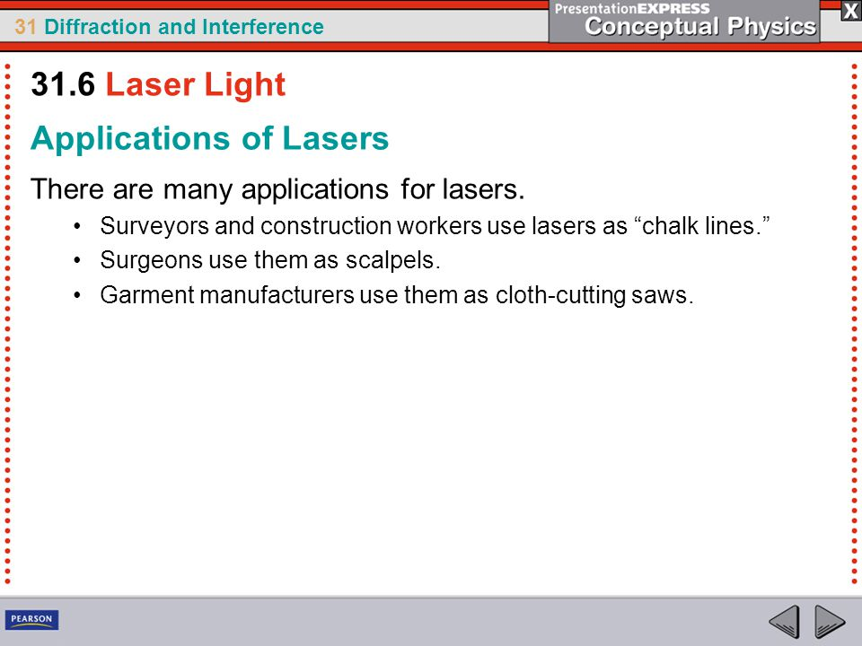 Applications of Lasers
