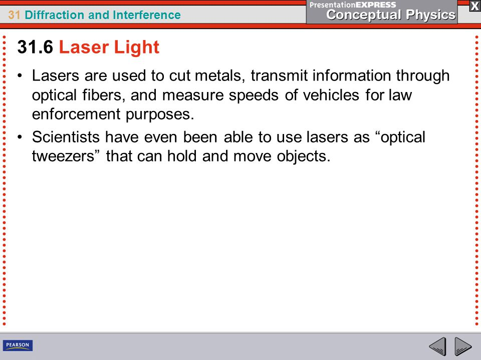 31.6 Laser Light