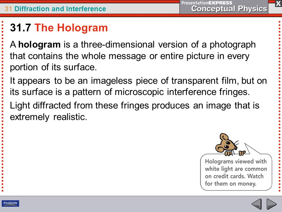 31.7 The Hologram