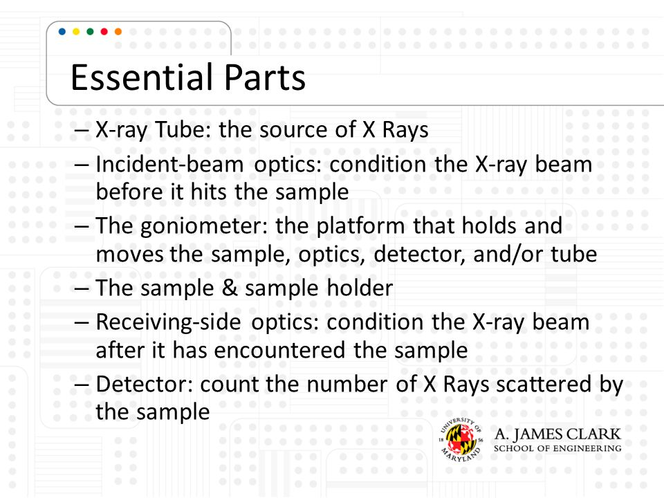 Essential Parts X-ray Tube: the source of X Rays