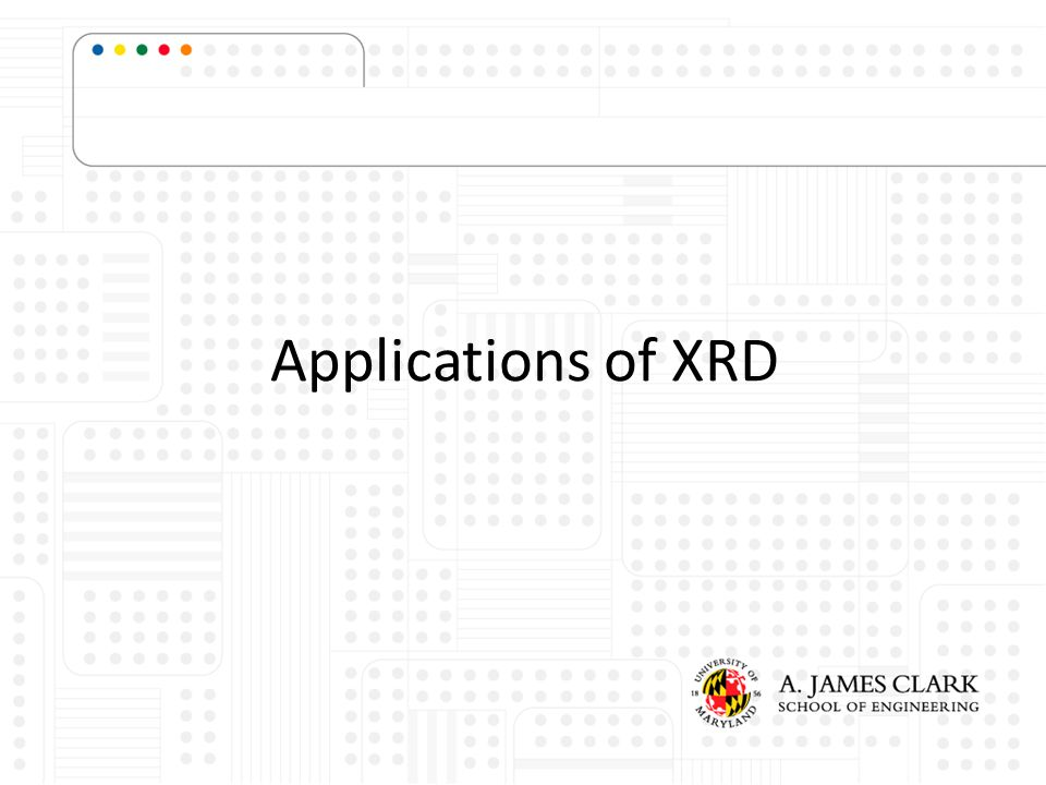 Applications of XRD