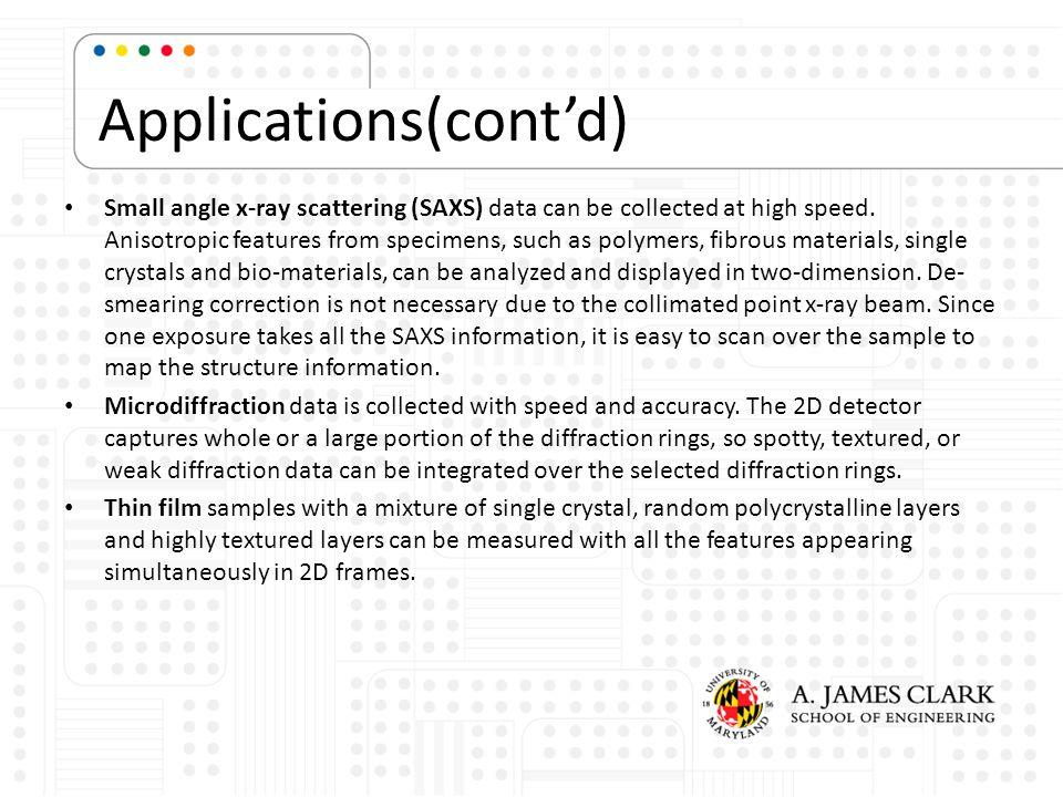 Applications(cont'd)
