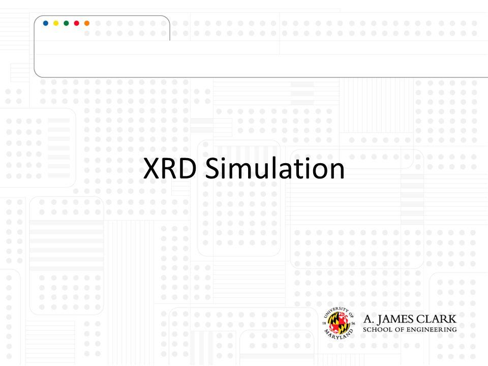 XRD Simulation