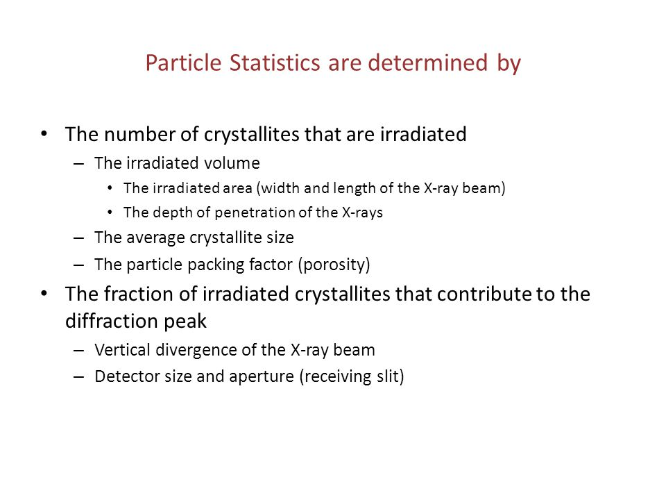 Particle Statistics are determined by