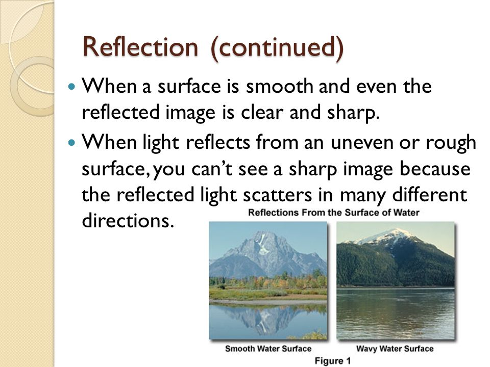 Reflection (continued)