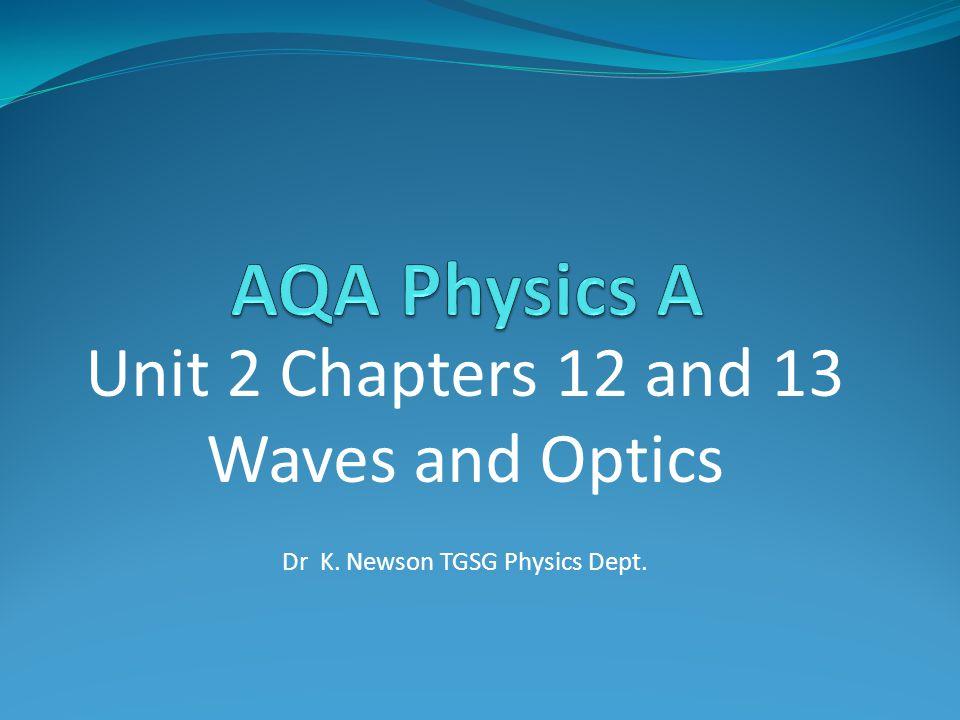 Dr K. Newson TGSG Physics Dept.