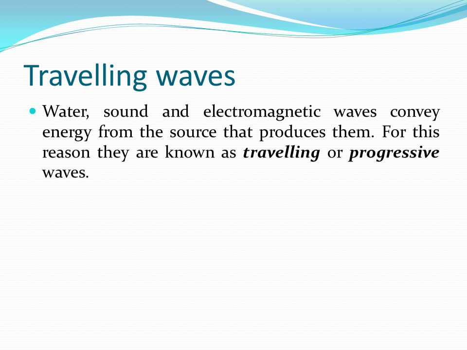 Travelling waves