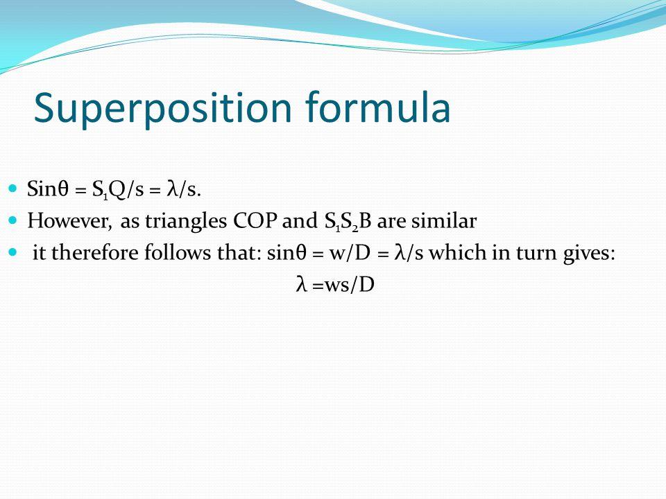 Superposition formula