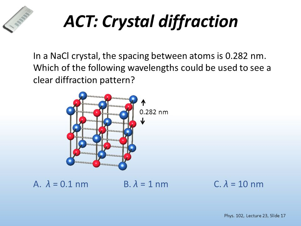 ACT: Crystal diffraction