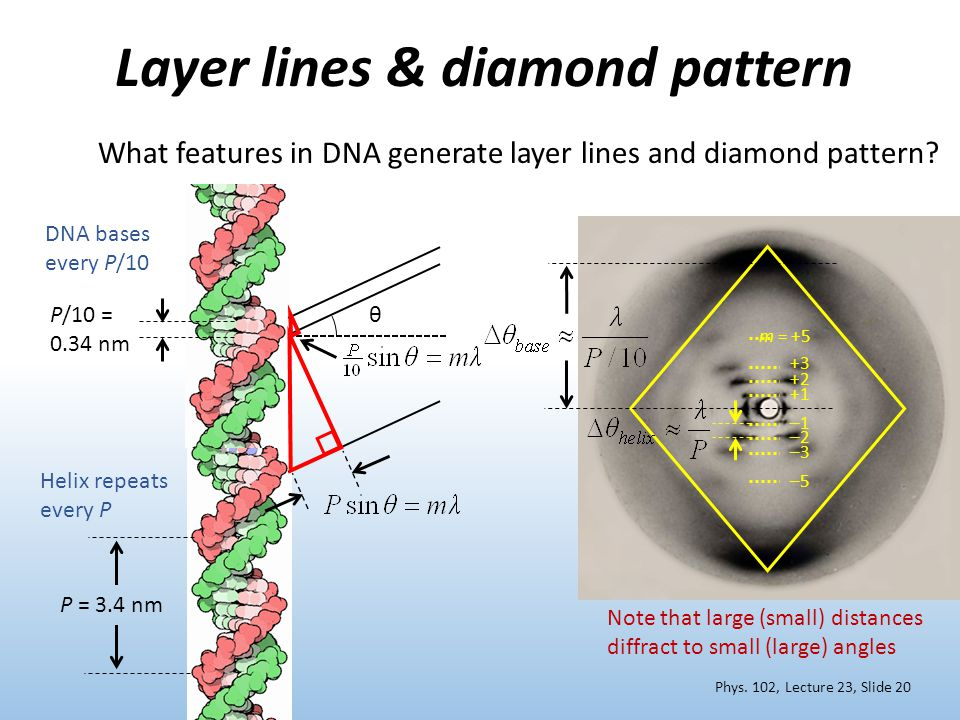 Layer lines & diamond pattern